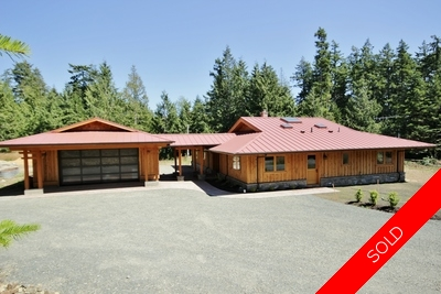 Natural, Healthy Home on Acreage for sale in Sooke BC - 1,832 sq.ft. (Listed 2014-07-21)