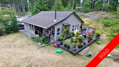 House on Acreage in East Sooke For Sale! 2001 built 1400 sqft 3 bedroom 2 bathroom rancher!